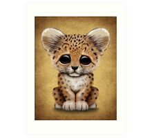 Cute Baby Leopard Cub  Art Print