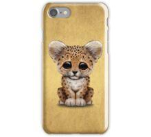 Cute Baby Leopard Cub  iPhone Case/Skin