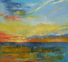 Turquoise Blue Sunset by Michael Creese