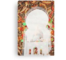 Sheikh Zayed Grand Mosque,  collage Canvas Print