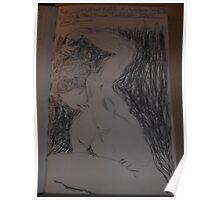 Drawing: Narcissus/1 of 4 -(260312)- black ink/A5 sketchbook/digital photo Poster