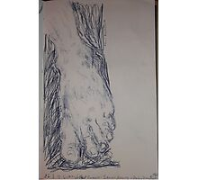 Drawing: Foot -(260312)- Ink/A5 sketchbook/digital photo Photographic Print