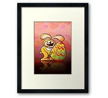 Easter Bunny Falling in Love Framed Print