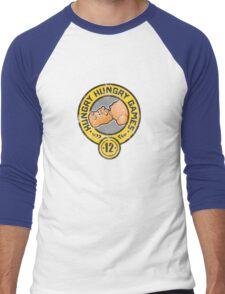 Let the Hungry Games Begin! Men's Baseball ¾ T-Shirt