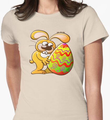 Easter Bunny Falling in Love Womens Fitted T-Shirt