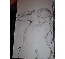 Drawing: Narcissus/2 of 4 -(260312)- black ink/A5 sketchbook/digital photo Photographic Print