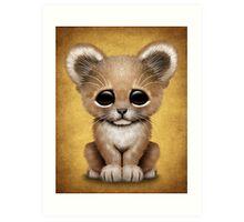 Cute Baby Lion Cub  Art Print