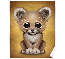 Cute Baby Lion Cub  Poster