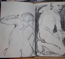 Drawing: Narcissus/3 of 4 -(260312)- black ink/A5 sketchbook/digital photo by paulramnora