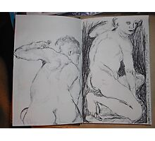 Drawing: Narcissus/3 of 4 -(260312)- black ink/A5 sketchbook/digital photo Photographic Print