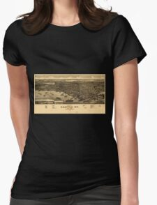 Panoramic Maps Bird's eye view of the city of Seattle WT Puget Sound county seat of King County 1884 Womens Fitted T-Shirt