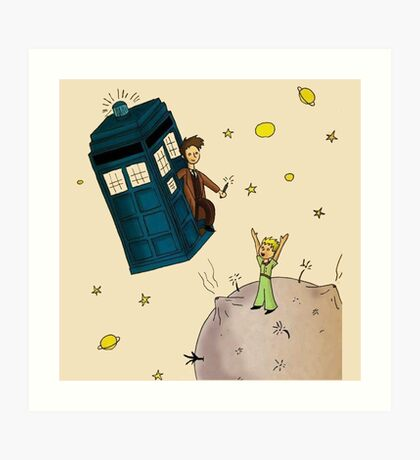 doctor who meets the little princes Art Print