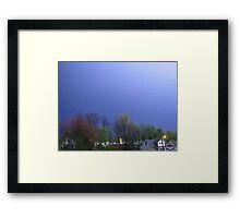 Lightning Shows Spring Colors Framed Print
