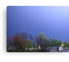 Lightning Shows Spring Colors Canvas Print