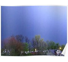 Lightning Shows Spring Colors Poster