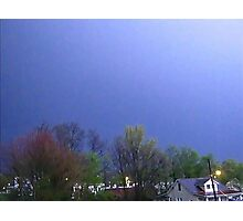 Lightning Shows Spring Colors Photographic Print
