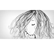 Flowing Hair Photographic Print
