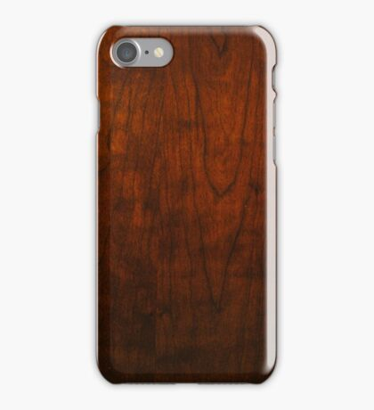 Mahogany Wood Texture  iPhone Case/Skin