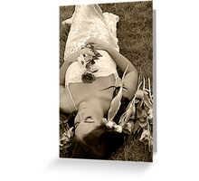 sleeping bride Greeting Card