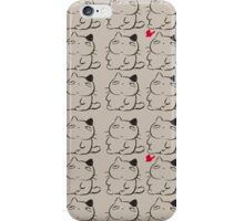cat and butterfly iPhone Case/Skin