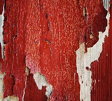 Red Peeling Paint Texture  by runninragged