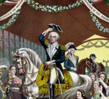 General Washington's Reception At Trenton Sticker