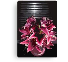 Dark Lilies in a vase Canvas Print