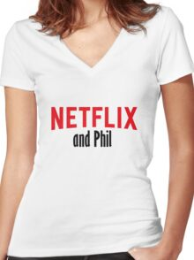 Netflix and Phil Women's Fitted V-Neck T-Shirt
