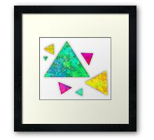 Retro-80s Confetti Triangles Framed Print