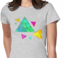 Retro-80s Confetti Triangles Womens Fitted T-Shirt