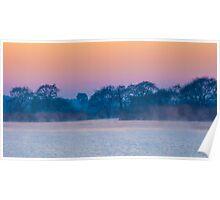 Pre-dawn fog Poster