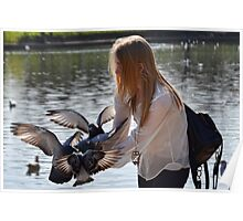Bird Girl At Exeter Quays, Exeter , Devon Poster