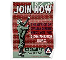 Join Civilian Defense -- WPA Poster