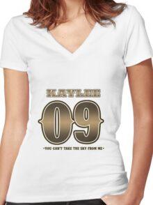 TEAM SERENITY : KAYLEE Women's Fitted V-Neck T-Shirt