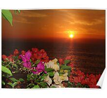 Springtide's Sunset In Red - Puesta Del Sol Rojo En La Primavera Poster