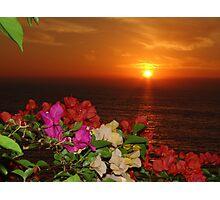 Springtide's Sunset In Red - Puesta Del Sol Rojo En La Primavera Photographic Print