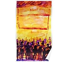 Join the crowd, watercolor Poster