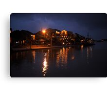 Thu Bon River By Night Canvas Print