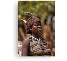 Africa, Ethiopia, Omo region, Ari Tribe woman Canvas Print