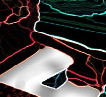Neon PC Abstract Outline Sticker