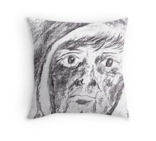 The Man In The Hood Throw Pillow