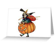 Queen Reaper (Vintage Halloween Card) Greeting Card
