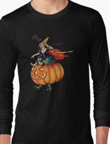 Queen Reaper (Vintage Halloween Card) Long Sleeve T-Shirt