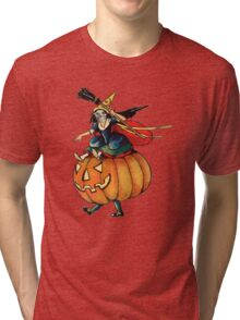 Queen Reaper (Vintage Halloween Card) Tri-blend T-Shirt