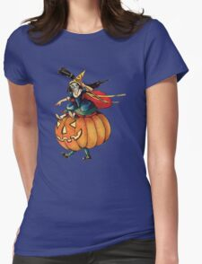Queen Reaper (Vintage Halloween Card) Womens Fitted T-Shirt