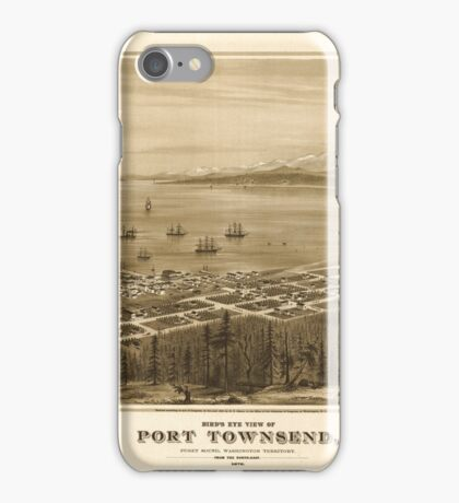 Panoramic Maps Bird's eye view of Port Townsend Puget Sound Washington Territory 1878 iPhone Case/Skin