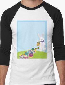 Easter Egg Hunt Men's Baseball ¾ T-Shirt