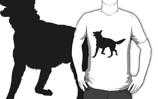 German Shepherd Silhouette by Maria Bell