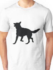 German Shepherd Silhouette Unisex T-Shirt
