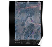 USGS Topo Map Washington State WA La Crosse East 20110406 TM Inverted Poster